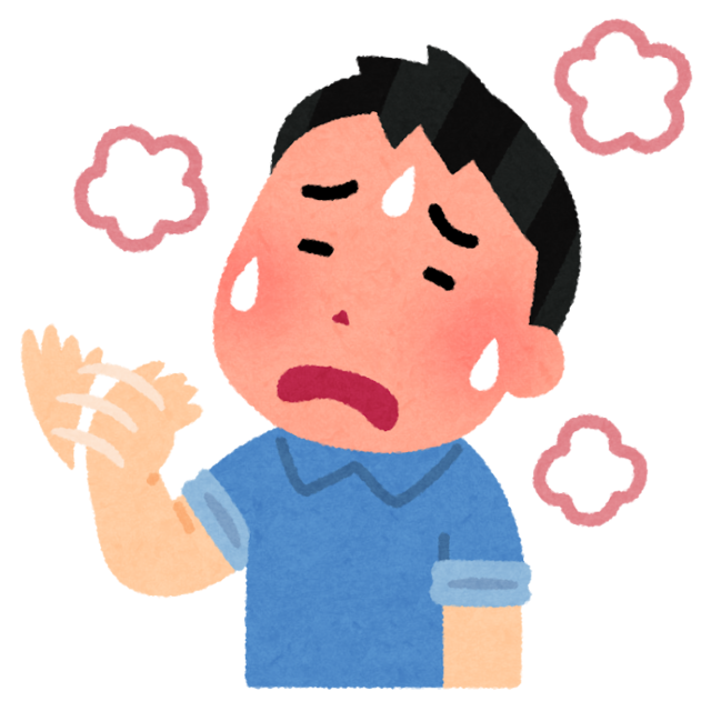 暑い人のイラスト(男性).png