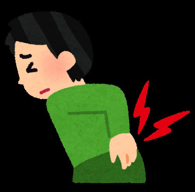腰痛や腰のこりが辛くて手で抑えている人のイラスト.png